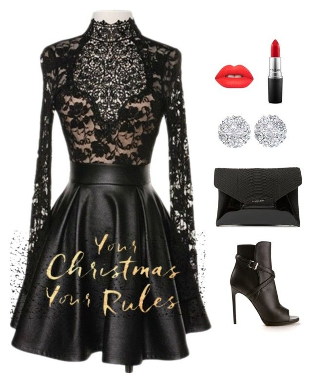"""Sassy Selfie Holiday Glam"" by luvsassyselfie ❤ liked on Polyvore featuring Yves Saint Laurent, Givenchy, Lime Crime, House of Fraser, Allurez and MAC Cosmetics"