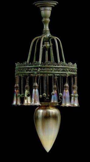 유 Illuminating Lamps 유    Louis Comfort Tiffany chandelier