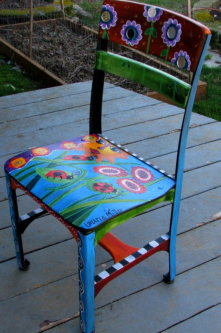 325 best images about funky handpainted furniture acces - Hand painted furniture ideas ...