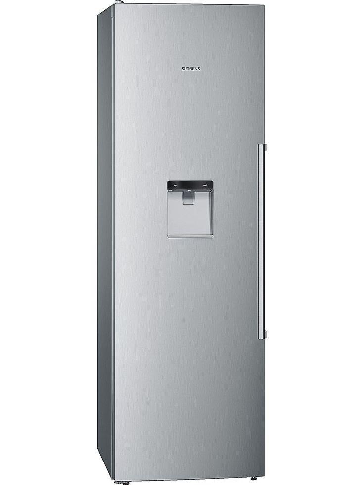 Siemens KS36WPI30 kylskåp i rostfri design, Energiklass: A++. Dispenser för kallvatten med LED-belysning integrerad i dörren, vattenanslutning med aquaStop®, anslutningsslang 2 m.