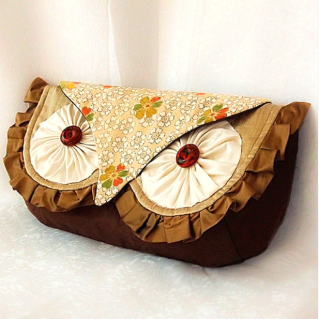 Love this! So cute!Ideas, Sewing, Owls Clutches, Owls Purses, Clutches Bags, Owls Bags, Diy, Clutches Pur, Crafts