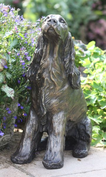 Cocker Spaniel - Life Size Bronze Sculpture, £895.00 ...