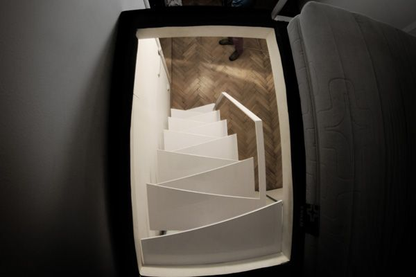 Space saving miller staircase