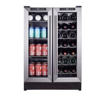 View the Magic Chef MCWBC24D 24 Built-In French Door Dual Zone Wine and Beverage Cooler at kegerator.com.