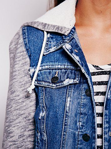 Free People Knit Hooded Denim Jacket  http://www.freepeople.com/clothes-jackets-outerwear/knit-hooded-denim-jkt/