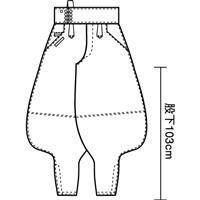 寅壱 作業服 7160-815 超超ロング胴付八分D 「73cm~85cm」(鳶衣料 年間)