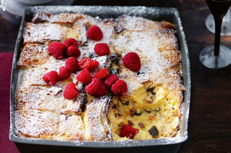 Marsala panettone bread & butter pudding