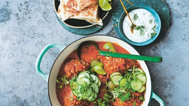 Recipe: butter chicken with chilli,cucumber salad and dill yoghurt