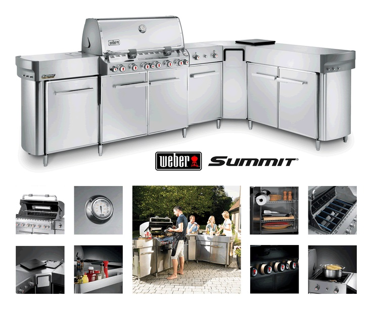 Your friends will never want to leave once you introduce them to this stainless steel beauty. It's got everything you could ever want in a backyard grilling experience, from a full sized Summit.    Some of the many features of this wonderful grilling experience include a tuck-away rotisserie, concealed rubbish bin, an insulated ice bucket and a paper towel holder. Also there is a dual ring side burner that doubles as a work surface, an extra large serving/prep area and enclosed gas tank…