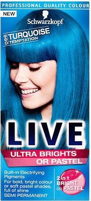 Schwarzkopf Live Color XXL Hd Ultra Brights Semi Permanent - 96 Turquoise Temptation What you get: 1 x dye kit Professional quality color  The no commitment, se
