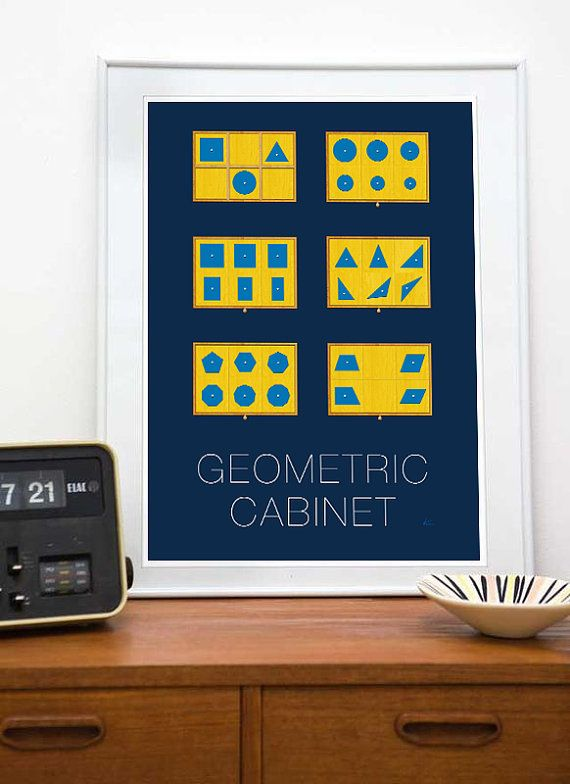 Montessori Geometric Cabinet Art 8x10 or 11x17 by Nirahlee on Etsy