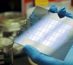 New Energy Technologies Inc.'s first-of-its-kind SolarWindow™ technology enables see-through windows to generate electricity by 'spraying' their glass surfaces with New Energy's electricity-generating coatings.