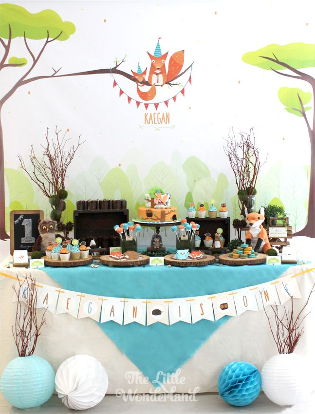 We Heart Parties:  Bright and Cutesy Woodland Party