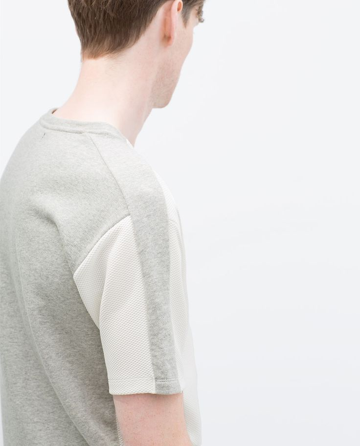ZARA - MAN - SHORT SLEEVE SWEATSHIRT
