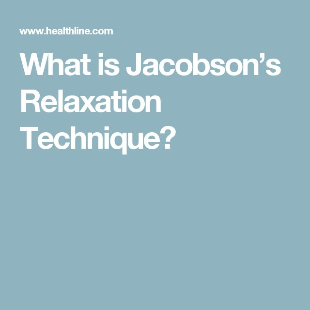 What is Jacobson's Relaxation Technique?