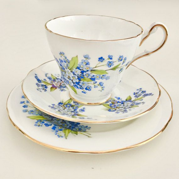 SALE  Lovely vintage tea set Forget-me-not 1960s