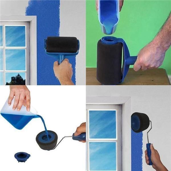 Drip Free Refillable Paint Roller 5 Piece Set Paint Roller Roller Brush Paint Runner
