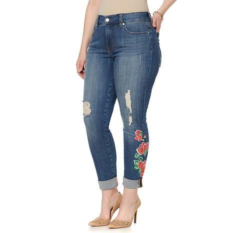 Melissa McCarthy Seven7 Flower Skinny Jean