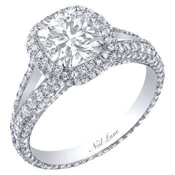 neil lane wedding rings neil cushion cut ring surrounded by diamonds 6142