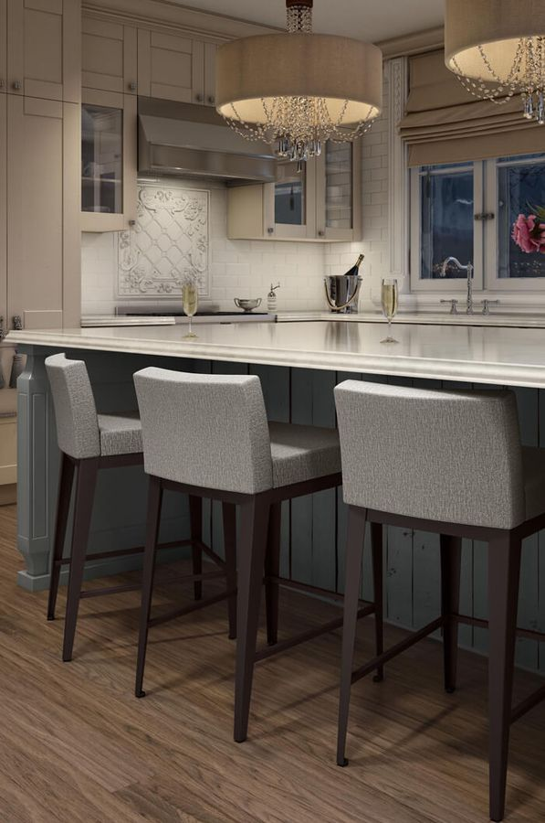 Ethan Modern Low Back Stool Bar Stools Kitchen Island Stools