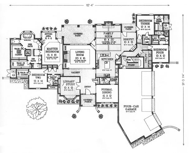 84 best house plans images on pinterest floor plans, home plans Southern House Plans One Story first floor plan of southern house plan 66246 southern house plans one story