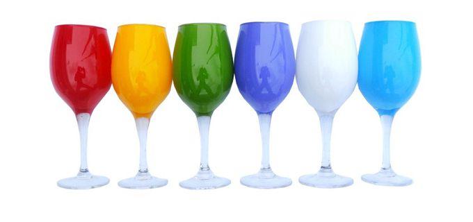 12.90€ για 6 Πολύχρωμα ποτήρια κρασιού - νερού 250ml, με παραλαβή από το Magichole ή με αποστολή στο χώρο σας! Αρχική 19,90€