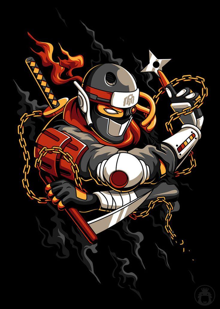 Ninja. Done for INTO THE AM. Enjoy! Ilustrasi karakter