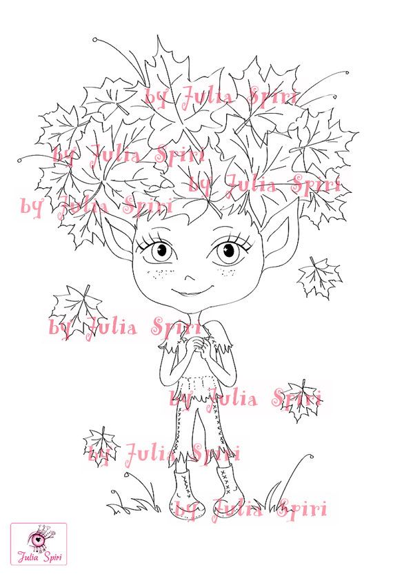 Digital Stamps Digi stamp Coloring pages Autumn by JuliaSpiri