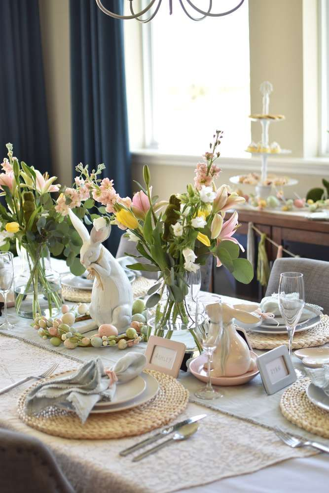 25+ Easter dining table decorating ideas Various Types