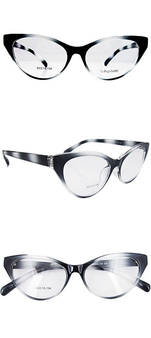 107a10a5337 Agstum Ladies Womens Cat eye Glasses Frame Optical TR90 Eyeglasses  (Gradient grey) in 2018