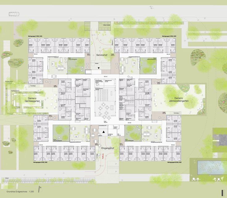 Preis: Pflegewohnheim Peter Rosegger, Dietger Wissounig Architekten, Ennstal Neue Heimat Wohnbauhilfe Gemeinn. WohnungsgesmbH, Geriatrische Gesundheitszentren der Stadt Graz, EG, © Dietger Wissounig Architekten