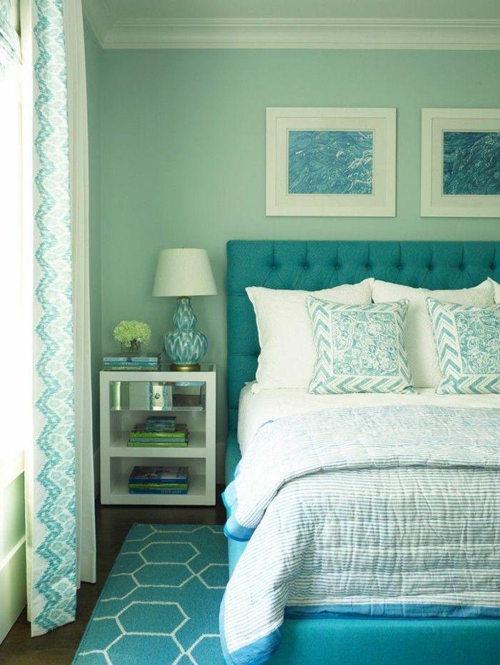 1002 beste afbeeldingen over chambre coucher op pinterest barok belle en - Chambre peinte en bleu ...
