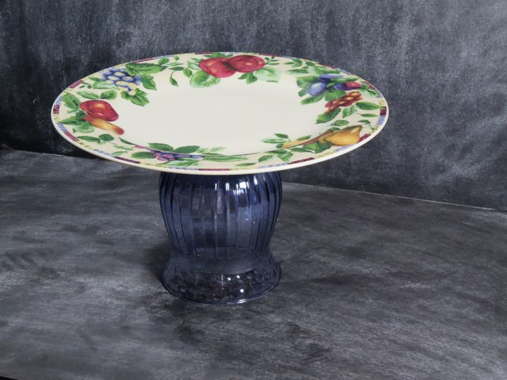 New to DancingDishAndDecor on Etsy: Cupcake Pedestal Fruit Plate Buffet Plate Stand Candle Centerpiece Cookie Plate Appetizer Dish Pastry Plate Stand Tidbit Plate 34 (22.00 USD)
