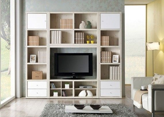 Tv cabinet bookshelf google search shelves pinterest for Bookcase and tv stand