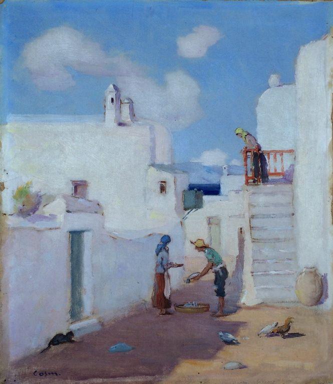 Ο Γεώργιος Δ. Κοσμαδόπουλος (Βόλος, 1895 – Αθήνα (;), 1967) ήταν έλληνας ιμπρεσιονιστής ζωγράφος. Μύκονος 1940-50