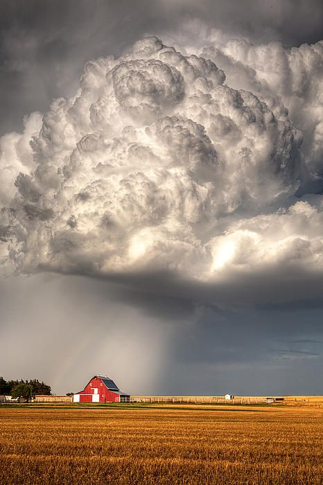 Stormy Skies Over Barn..Kansas