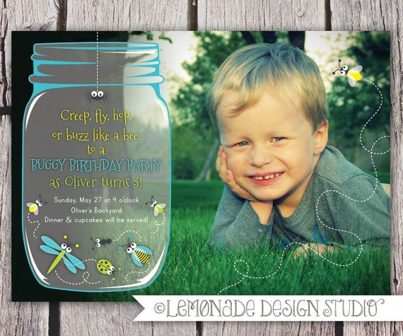 Bug Birthday Party Invitation (can buy on etsy)