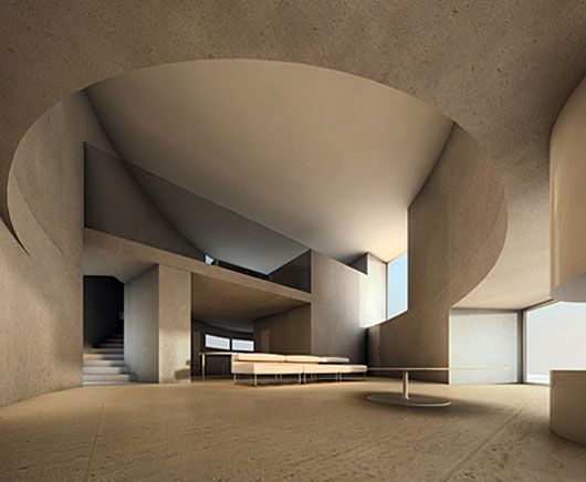 Interior Of The Ellipse 1501 House Completed In 2007 Location Rome Italy Architects Antonino Cardillo
