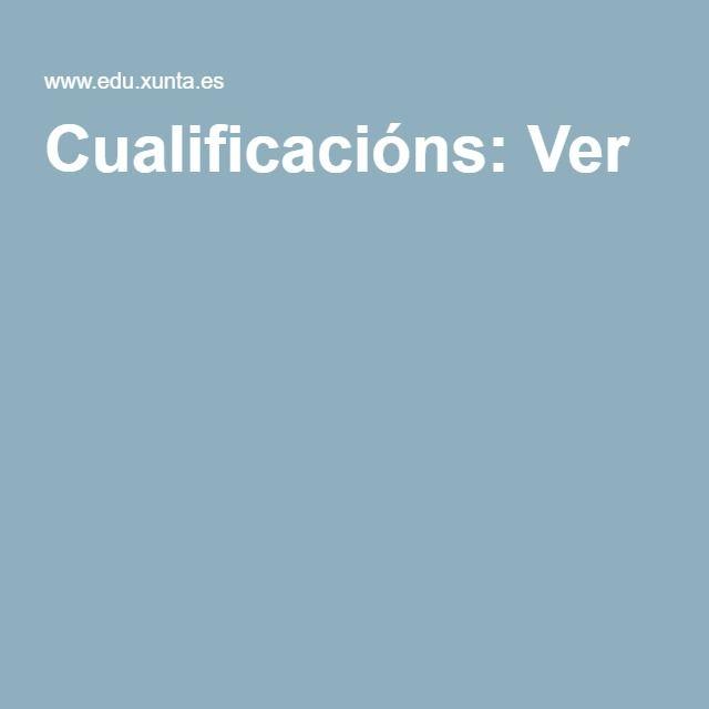 Cualificacións: Ver