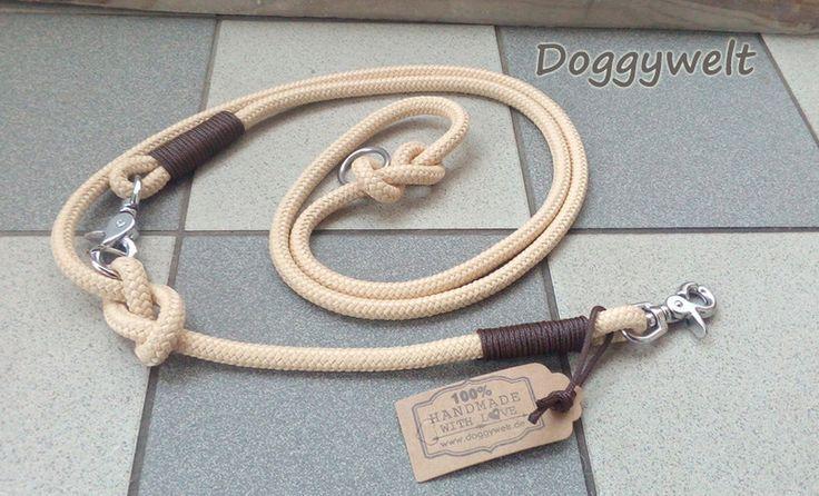 Hund: Leinen - Sonstige - Tau Hundeleine - verstellbar - ein Designerstück von Doggywelt bei DaWanda