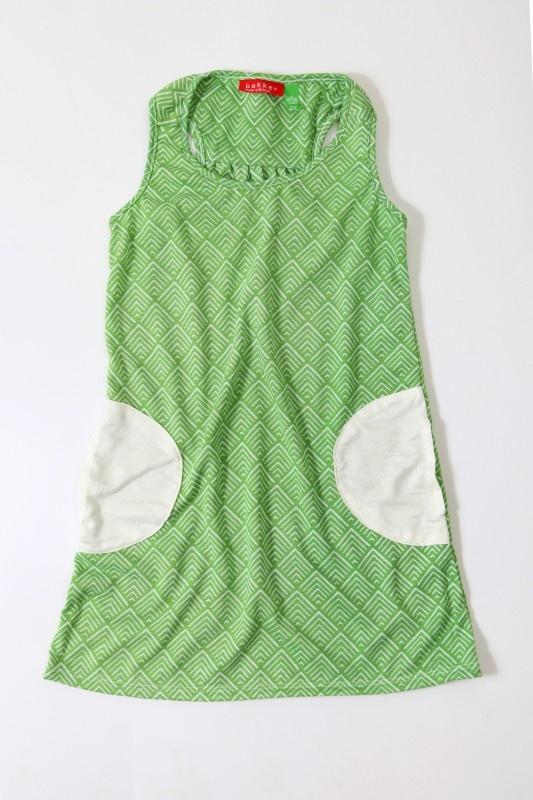 Bakker made with love - Zomerkleedje met groene print (3 t/m 8 jaar) | Rokken en jurken | Calomel