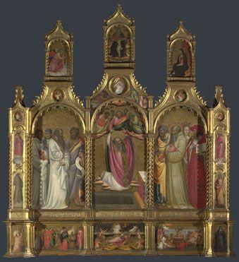 Giovanni dal Ponte: 'Ascension of John the Evangelist Altarpiece', c. 1410-20
