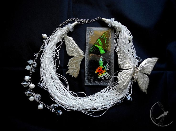 Iwona Tamborska бижутерия из настоящих насекомых/jewellery from real insects