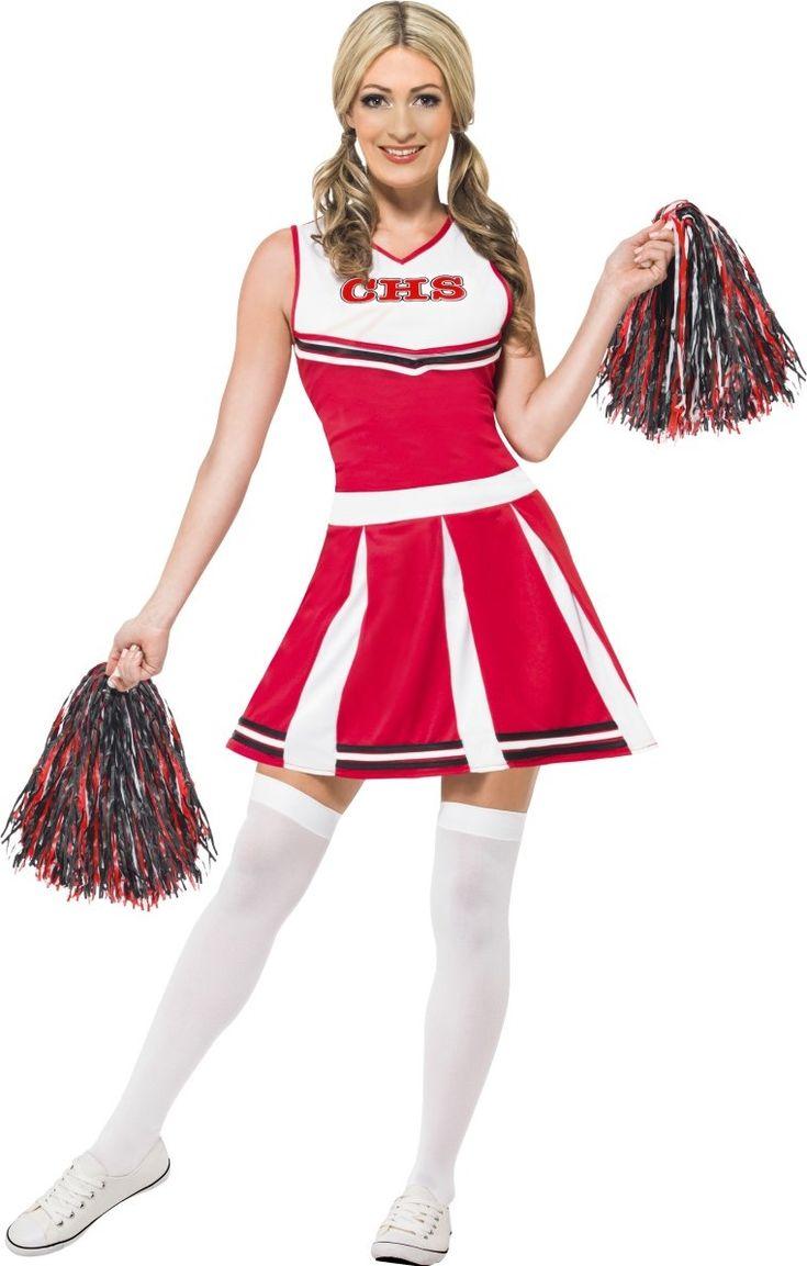 Dit cheerleader kostuum is perfect om als cheerleader te spelen tijdens een sportevenement, Carnaval, huisfeest of elk ander verkleedfeest!