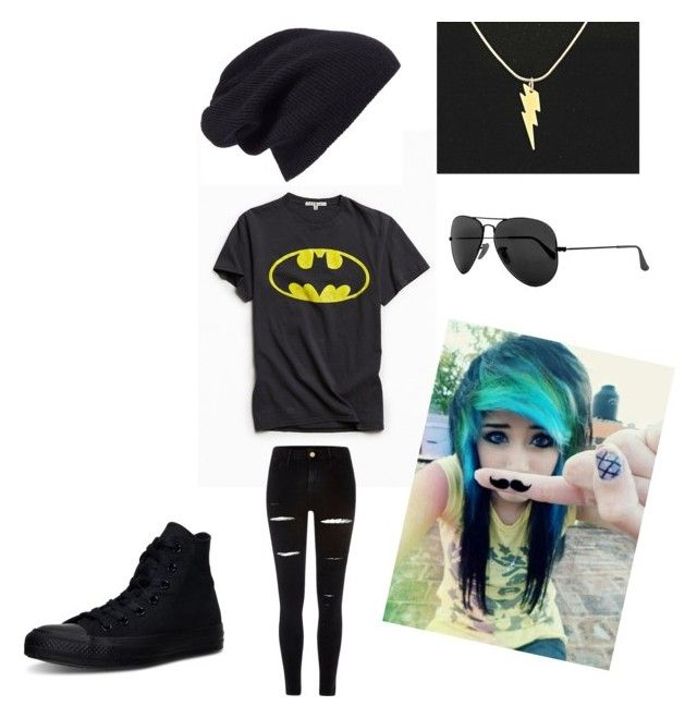 """""""Untitled #1"""" by ryleewantstobattle on Polyvore featuring Junk Food Clothing, River Island, Ray-Ban, Halogen and Converse"""