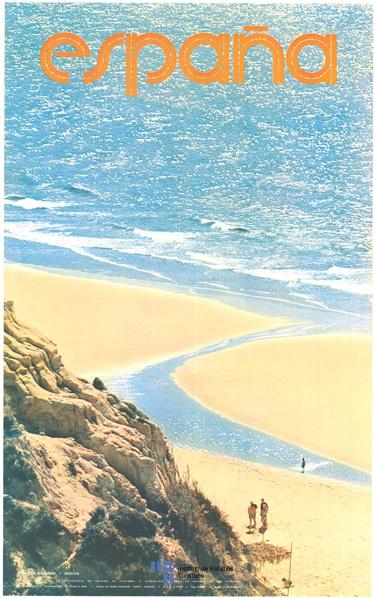 Playa de Mazagon en Huelva, Spain. Cartel de #turismo de España del año 1979. Via #Viajology