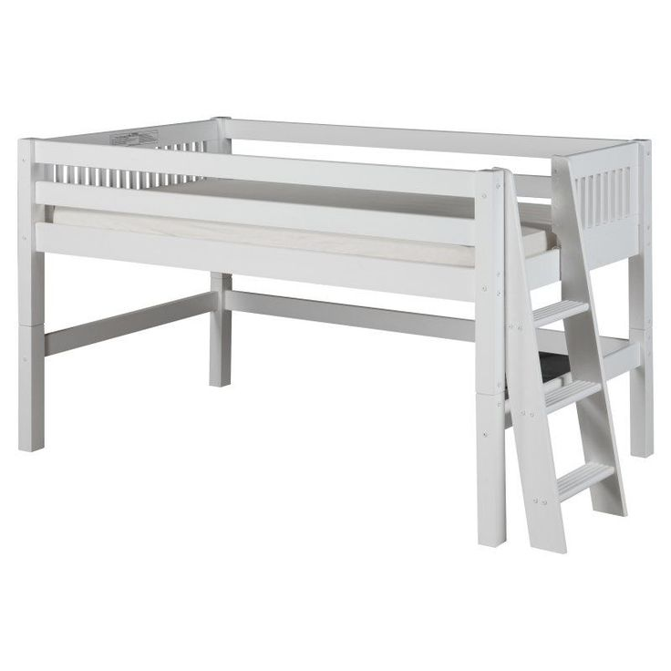 Camaflexi Mission Headboard Low Loft Bed, Size: Full - C413FWH