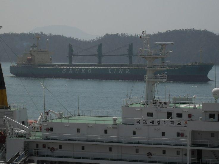 April 6, 2009: The Sanko Phoenix seen passing the Mokpo Maritime ...