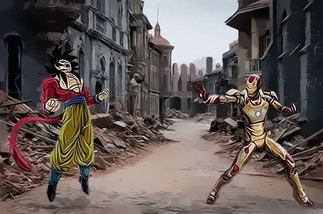 Goku vs iron man