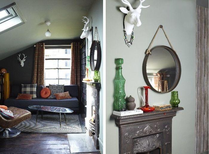 Темный жизнерадостный дом. – Красивые квартиры